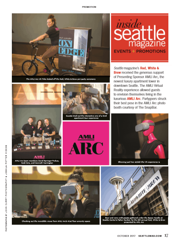 AMLI Arc Sponsorship Seattle Magazine, City Publication